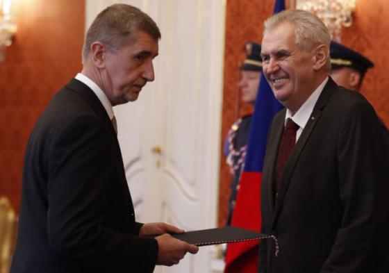 babis rokoval so zemanom o menach nominantov na ministrov v mensinovej vlade